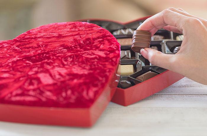 バレンタインといえばチョコレート