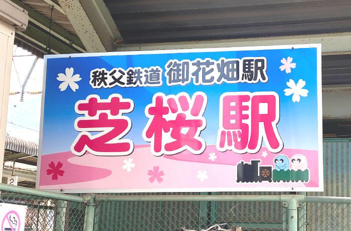 秩父鉄道御花畑駅は別名、芝桜駅