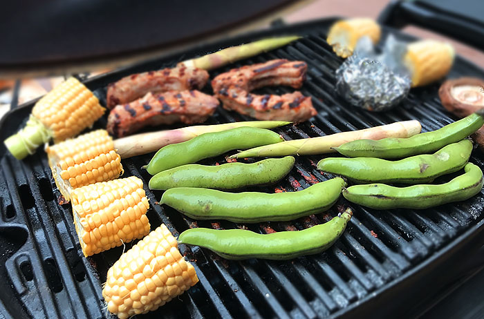 晴れた5月に家族でバーべキューを楽しむのはいかがですか